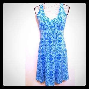 Tehama Dress light blue dark blue preppy chic